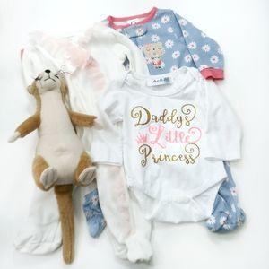 3 Piece Pajamas & Onesie Bundle 0-3 Months